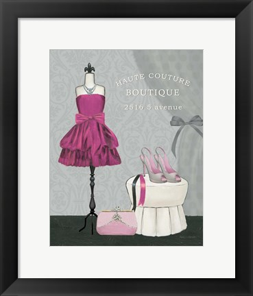 Framed Dress Fitting Boutique II Print