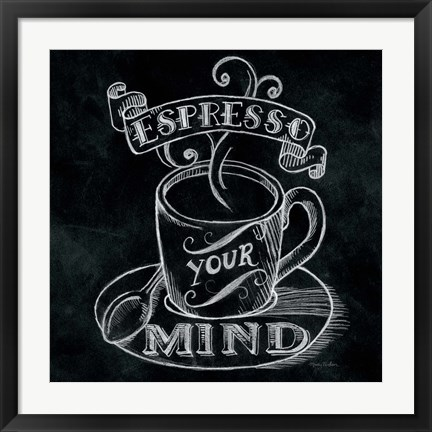 Framed Espresso Your Mind  No Border Square Print