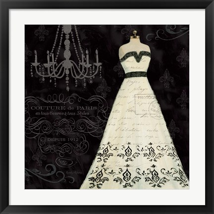 Framed French Couture II Print