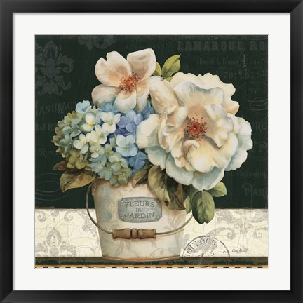 Framed French Vases I Print