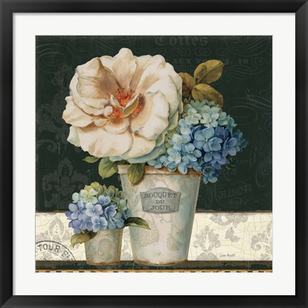 Framed French Vases II Print