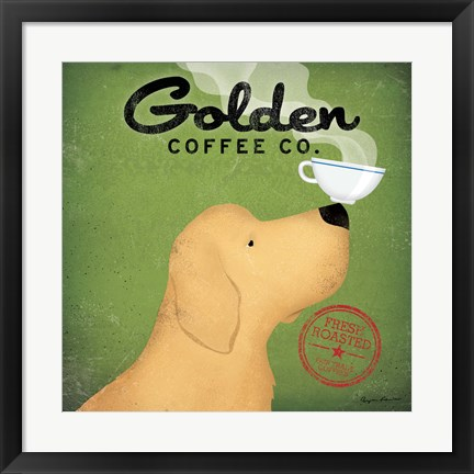 Framed Golden Coffee Co. Print