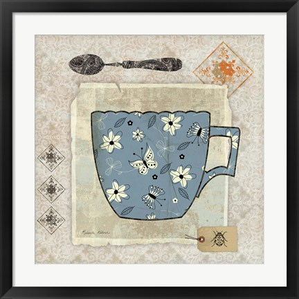 Framed Garden Cafe IV Print