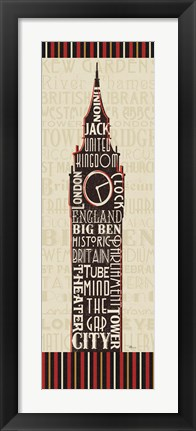 Framed London City Words II Border Print