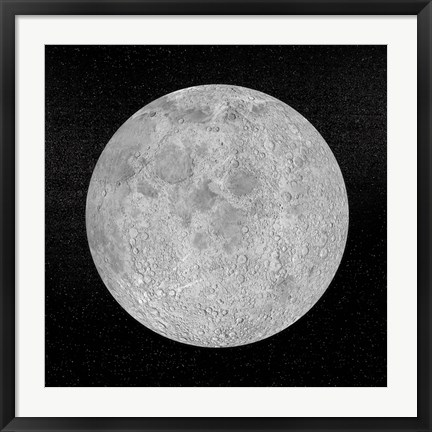 Framed Artists concept of a full moon in the universe at night Print