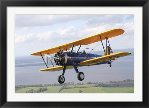Framed Close up of Boeing Stearman Model 75 Kaydet Print