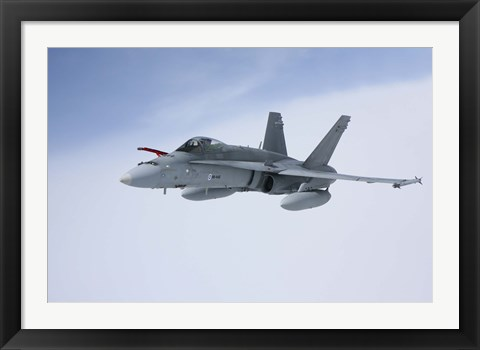 Framed Side View of F/A-18 Hornet of the Finnish Air Force Print