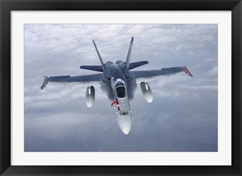 Framed Front View of F/A-18 Hornet of the Finnish Air Force Print