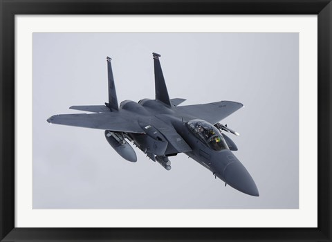 Framed F-15E Strike Eagle of the US Air Force Print