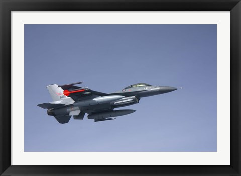 Framed F-16 Fighting Falcon of the Norwegian Air Force Print