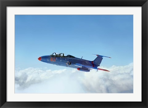 Framed L-29 Delfin standard jet trainer of the Warsaw Pact Print
