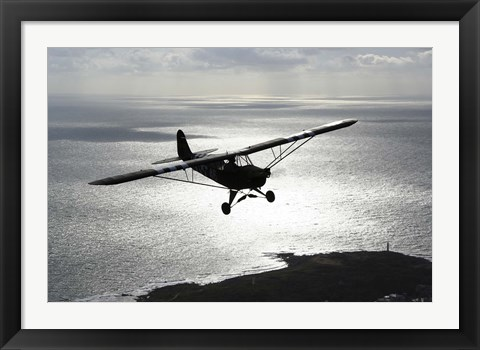 Framed Piper L-4 Cub in US Army D-Day colors Print