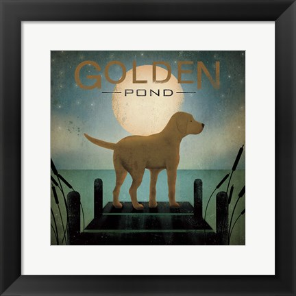 Framed Moonrise Yellow Dog Print