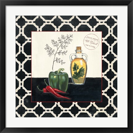 Framed Parsley and Peppers Print