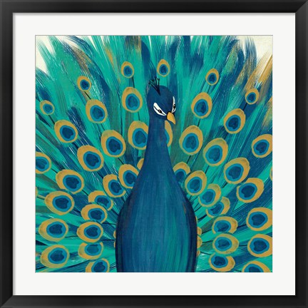 Framed Proud as a Peacock I Print
