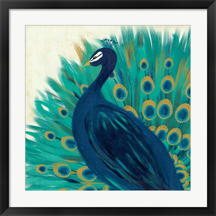 Framed Proud as a Peacock II Print