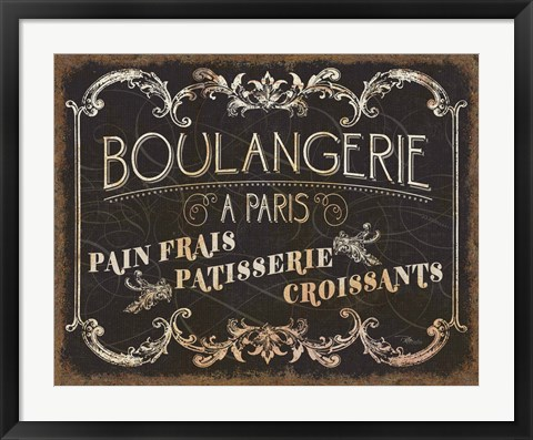 Framed Parisian Signs Print