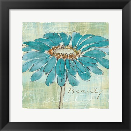 Framed Spa Daisies I Print