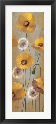 Framed Spring Poppies I Print