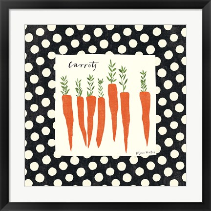 Framed Simple Carrots SP Print