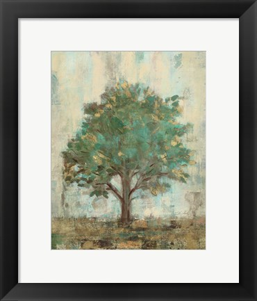 Framed Verdi Trees I Print