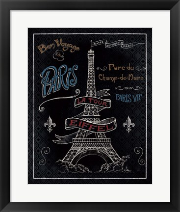 Framed Travel to Paris I Print