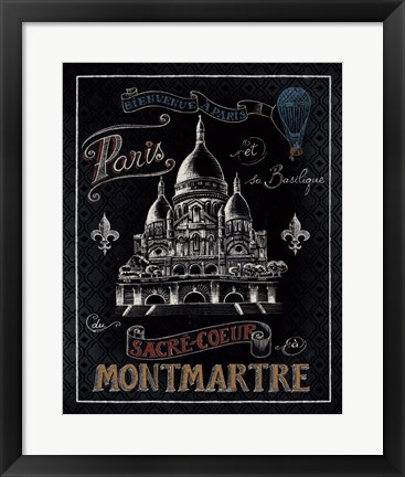 Framed Travel to Paris III Print