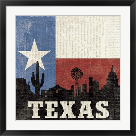 Framed Texas Print