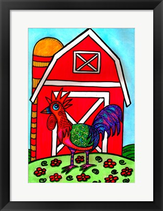 Framed Charlie, The Rooster Print