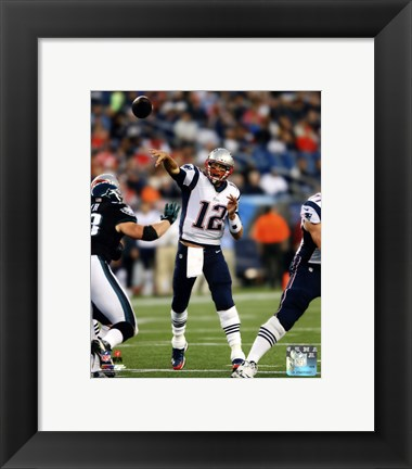 Framed Tom Brady 2014 throwing the ball Print