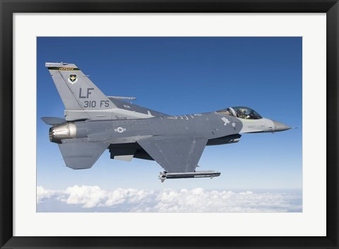 Framed F-16C Fighting Falcon during a sortie over Arizona Print