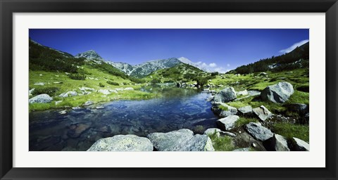 Framed Ribno Banderishko River in Pirin National Park, Bulgaria Print
