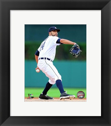 Framed David Price Pitching Pose Print