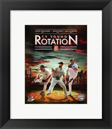 Framed Detroit Tigers Cy Young Rotation Composite Print