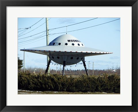 Framed Moonbeam UFO Print