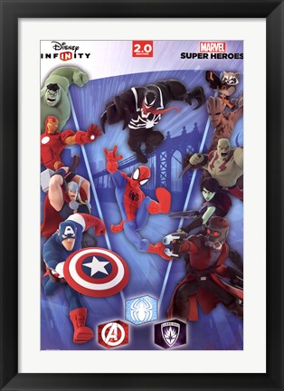 Framed Disney Infinity 2.0 - Collage Print