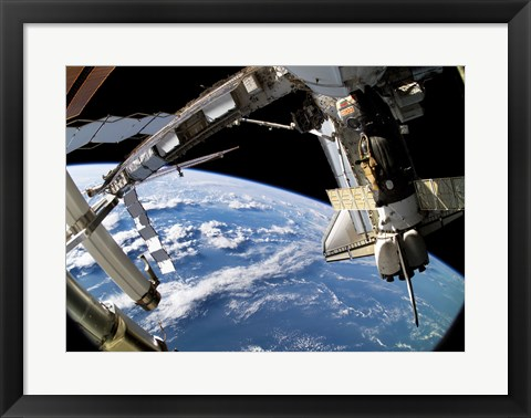 Framed Space Shuttle Atlantis, Soyuz Spacecraft, STS-115 Mission, September 17, 2006 Print