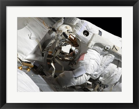 Framed Maintenance on the International Space Station Print