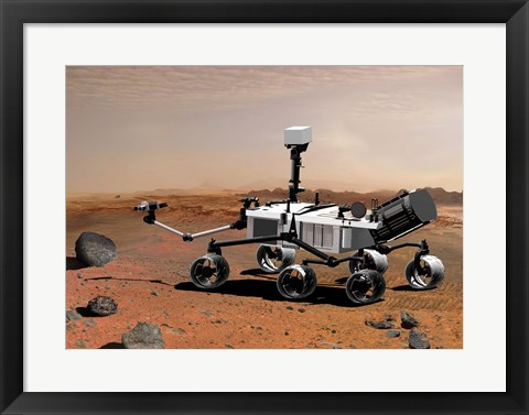 Framed Concept of NASA's Mobile Robot for Investigating Mars Print