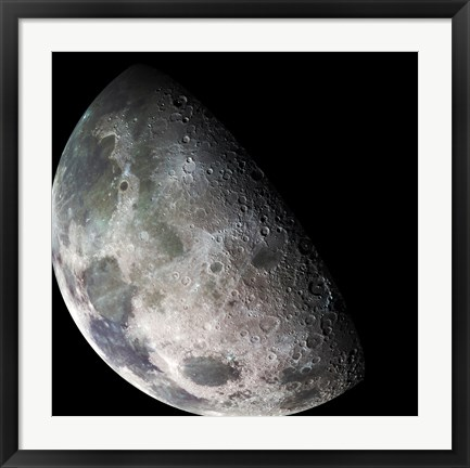 Framed Galileo spacecraft returned images of the Moon during its flight Print