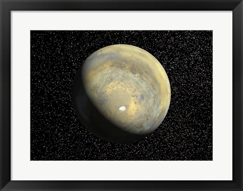 Framed Global View of Mars Print