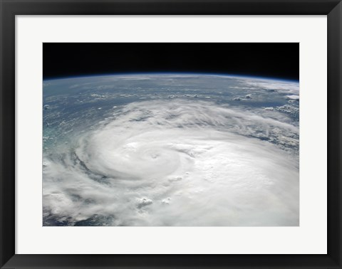 Framed Tropical Storm Fay August 19, 2008 from the International Space Station Print