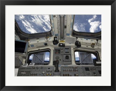 Framed Solar panels on the Hubble Space Telescope Print