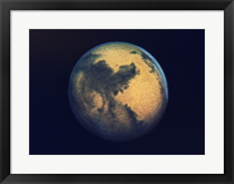 Framed Mars seen through the Hubble Telescope Print
