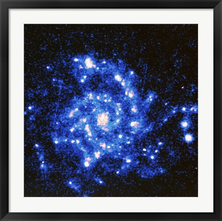 Framed U.V. Image of the Spiral Galaxy Print