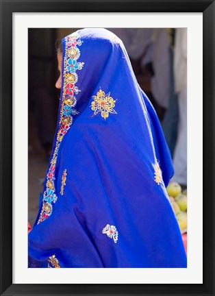 Framed Sari Woman, New Delhi, India Print