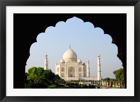Framed Sunrise at the Taj Mahal, Agra, India Print