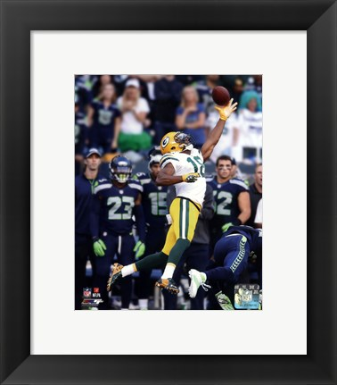 Framed Randall Cobb Receiving Football Print