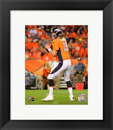 Framed Peyton Manning 2014 Football Action Print