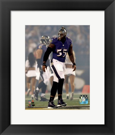 Framed Terrell Suggs 2014 Action Print